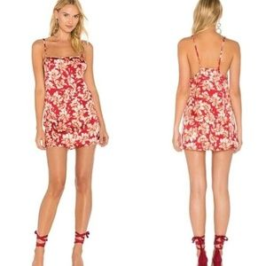For Love & Lemons Melanie Slip Silk Blend Dress
